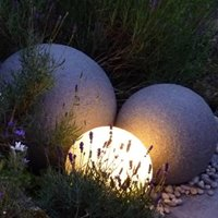 Stone globe lights
