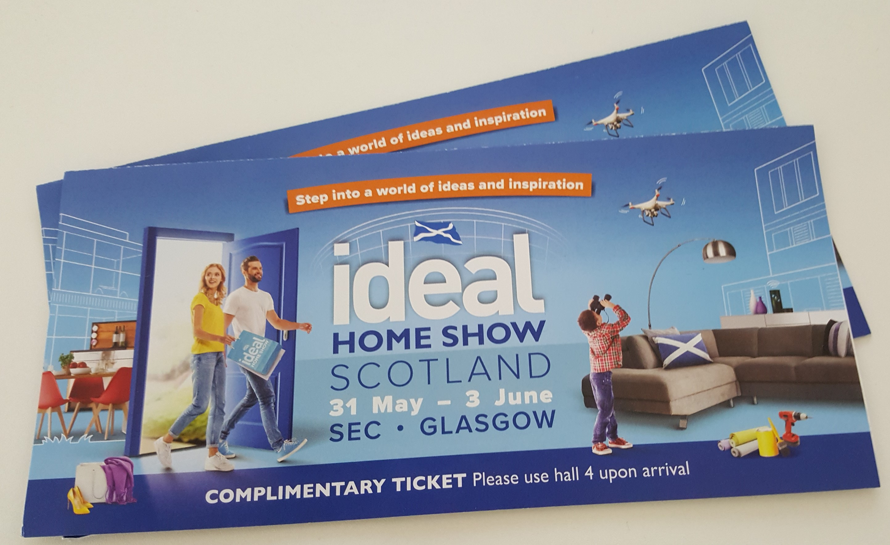 win tickets to this year 39 s ideal home show glasgow. Black Bedroom Furniture Sets. Home Design Ideas