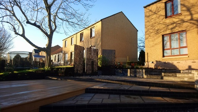 Decking area in Garthdee project - Papillon Garden Designs